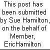 Postin On Behalf of EricHamilton
